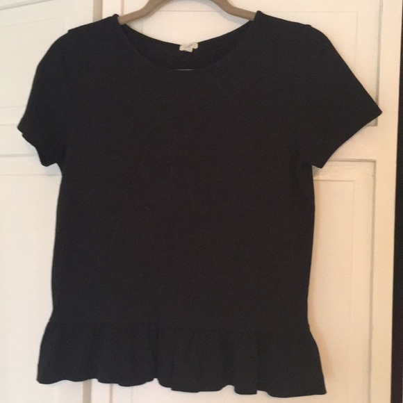 J. Crew Factory Tops - NWOT Short sleeved peplum top
